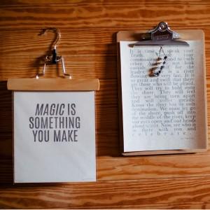 magic is something you make circle