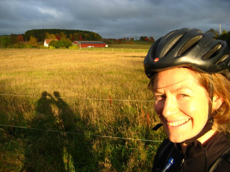 Ruth biking
