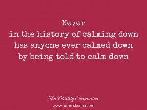 Calm Down - Anxiety Blog image