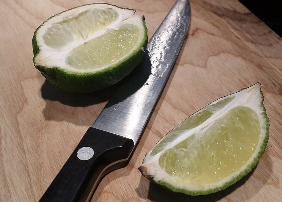 The Lime Landed Cut-Side Down